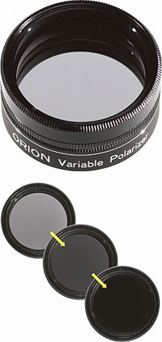 Filtre polarisant variable Orion 31.75 mm