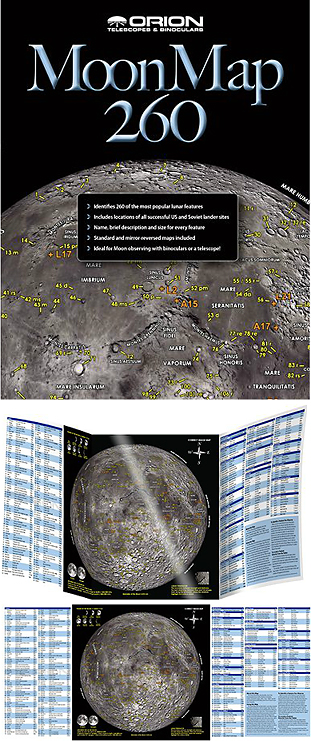 Carte de la Lune plastifiée Orion